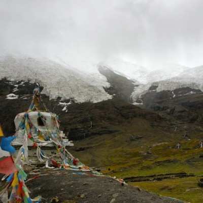 Karo La pass, on the road from Lhasa to Gyantse