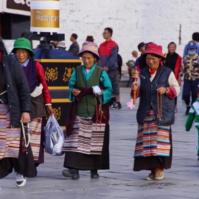 Pilgrims walking the Barkhor, Lhasa
