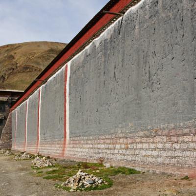 Wall of Sakya Monastery