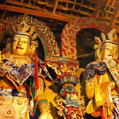 Statues at Drepung Monastery, Lhasa