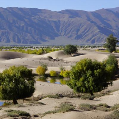 Sand dunes near Samye Monastery