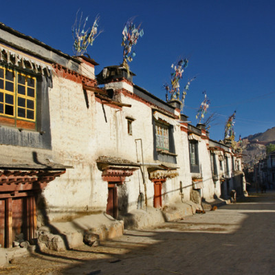 A street in the city of Gyantse