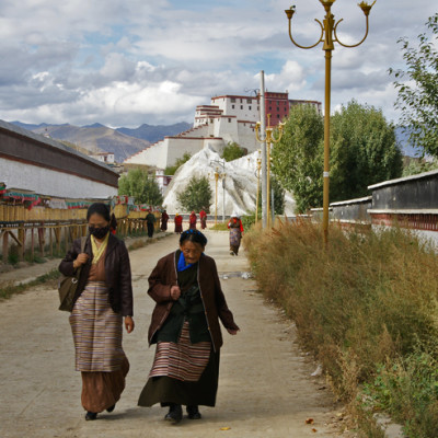 Shigatse with it's Dzong in the background