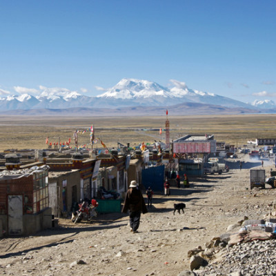 Darchen, starting point of the kora around Mount Kailash