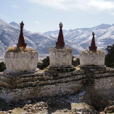 Stupas at Reting Monastery